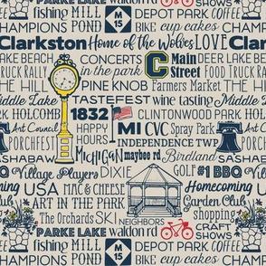 Clarkston Words Khaki