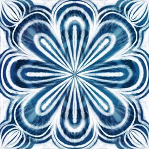 shibori indigo blossom