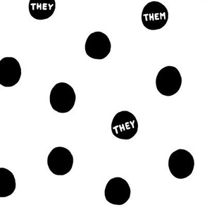 They/Them Dots - Black on White