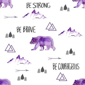 Be Brave in Purple