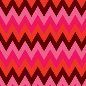 Pinks Red Burgundy Chevron