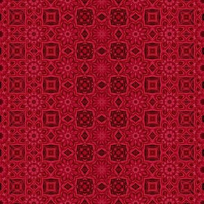 Quilting in Red Design No 11 Metamorphasis