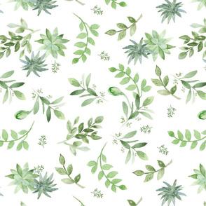 fresh greenery delicate pattern