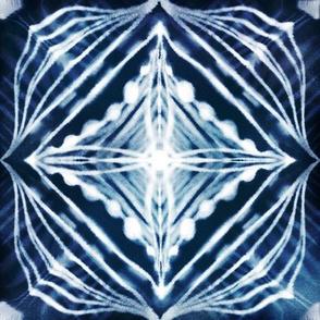shibori indigo diamond