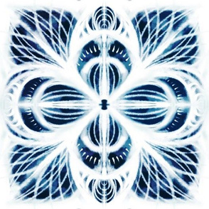 shibori indigo lotus flower