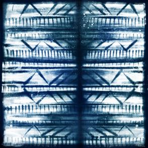 shibori indigo woven