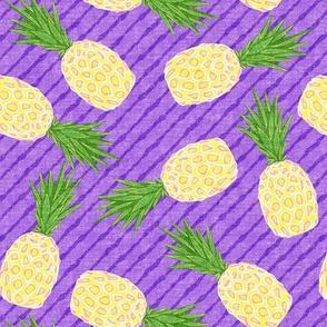 Pineapples - Purple stripes - Summer - LAD19