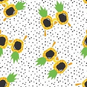 Pineapple Sunnies - summer sunglasses - polka  - LAD19