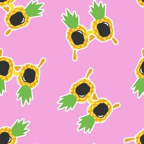 Pineapple Sunnies - summer sunglasses - pink - LAD19