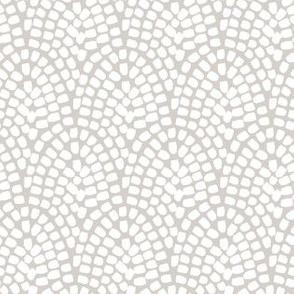 Dabs // white on grey