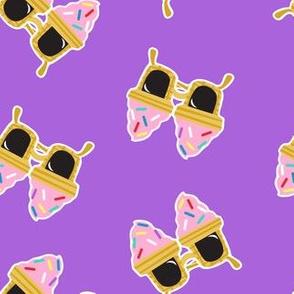 Ice cream Sunnies - summer sunglasses - purple - LAD19
