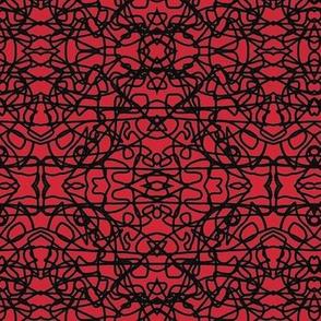 Random rope black on red by Su_G_©SuSchaefer