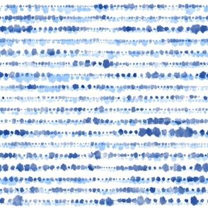 """Shibori Shimi- blue blotches (white) 18"""""""