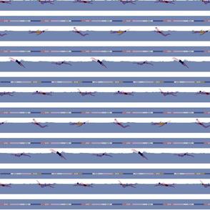 swimming laps breton stripes - candy - small