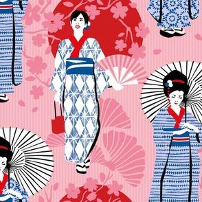 Shibori, kimono komon, Japanese