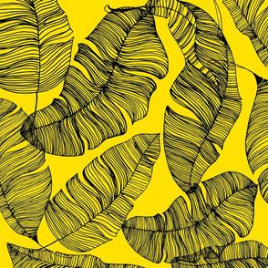 Ink Tropical Leaves - Yellow