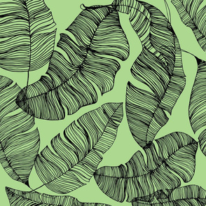 Ink Tropical Leaves - Green