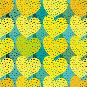 colorful hearts by rysunki_malunki