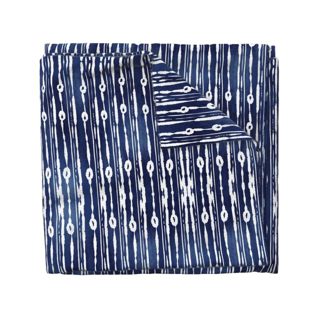 Wyandotte Duvet Cover featuring Minimal Shibori Pattern by mitalimdesigns