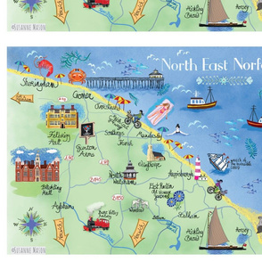 Susanne Mason, Norfolk map