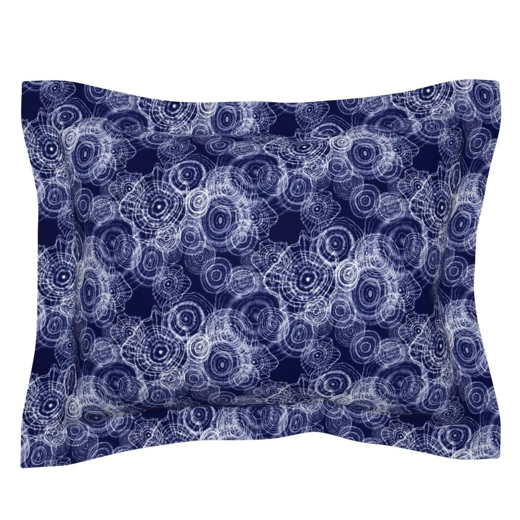 Sebright Pillow Sham featuring SHIBORI DOILIES by daintydora