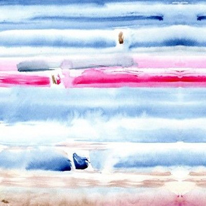 Shibori with a touch of pink