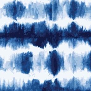 indigo shibori stripe