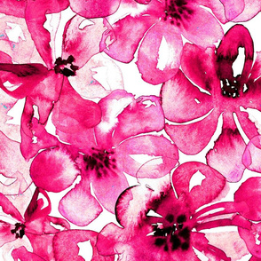 19-08f Jumbo Hot Pink Magenta Floral