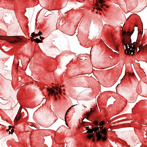 19-08d Red Wine Floral