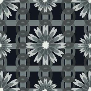 Flower Power Black Grey