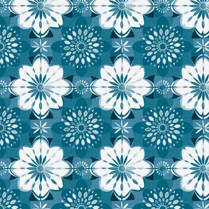 Shibori flower | denim