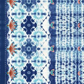 Shibori boho style - indigo dyed