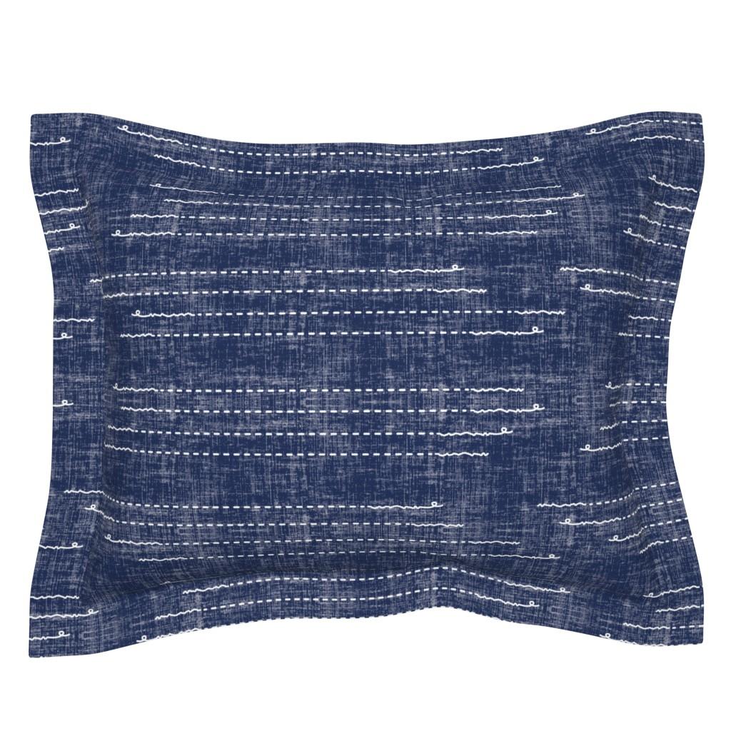 Sebright Pillow Sham featuring Shibori Stitches by twigged