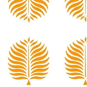 Tropical Palms . White Tangerine Leaves