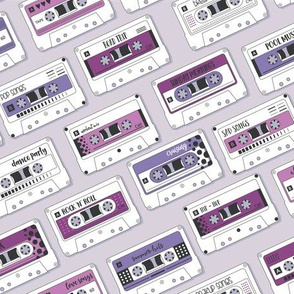 Cassette Tapes Purple