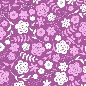 mauve pink garden
