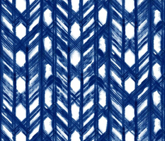 Shibori Lattice - Indigo on White - © Autumn Musick 2019