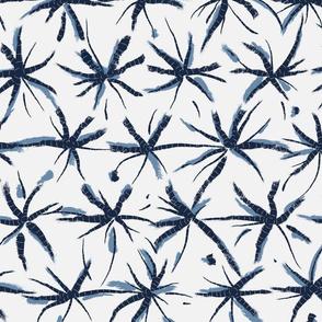 Abstract Spider Lily In Shibori Technique