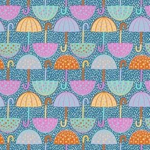 Colourful Polka Dot Umbrellas - small