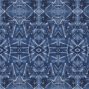 Shibori Triangles Indigo