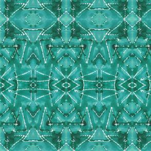 Shibori TrianglesTurquoise