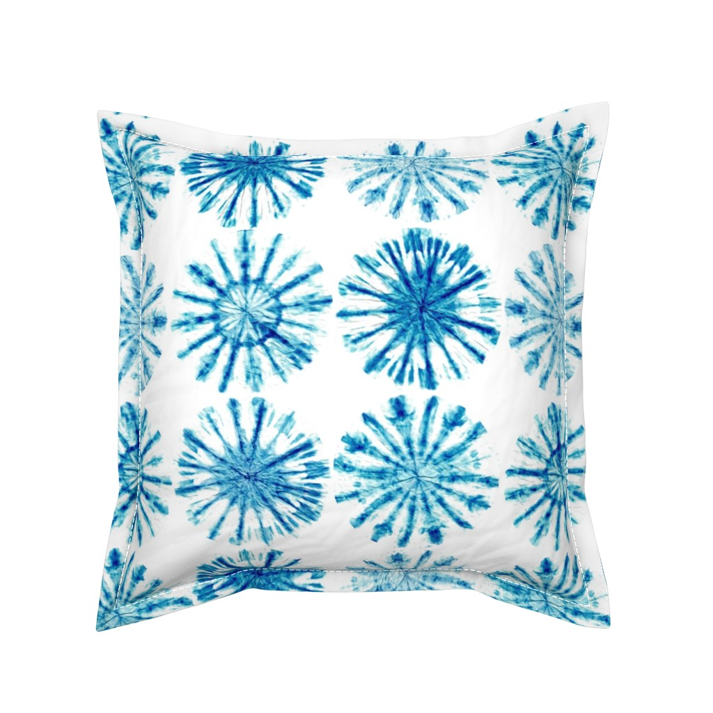 Serama Throw Pillow featuring Shibori by sarah_treu