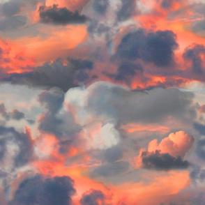 Dramatic Sunset Stripe