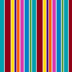 Rainbow Raindrops Stripes