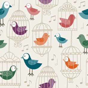 caged birds sing - light