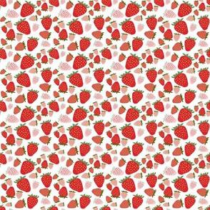 mini strawberries-white