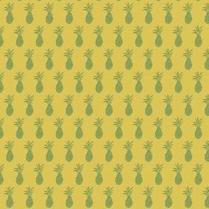 mini pineapple - green/yellow