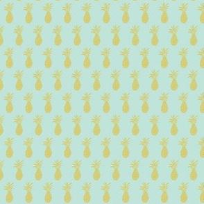 mini pineapple-sunbleached turquoise