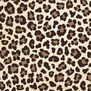 leopard black brown cream