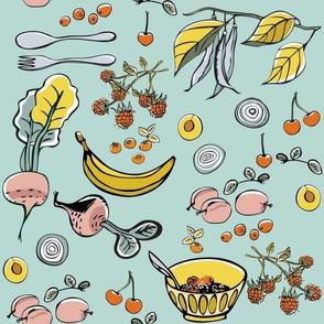 Fruits and Veggies Pink Breakfast